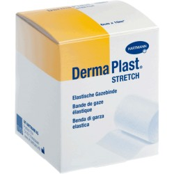 DERMAPLAST STRETCH Gazebinde weiss 6cmx10m