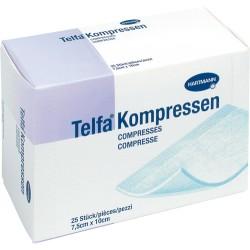 DERMAPLAST TELFA Kompressen 7.5x10cm 25 Stk