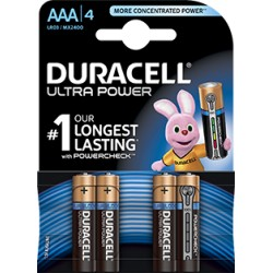 DURACELL Batt Ultra Power MN2400 AAA 1.5V 4 Stk