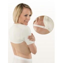 EUSANA Schulterwärmer S ivoire mit Trägerband
