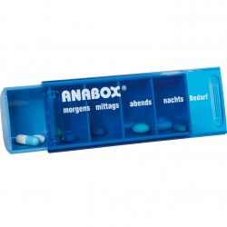 ANABOX Medidispenser 1Tag blau