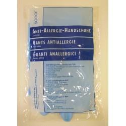 SANOR Anti Allergie Handschuhe PVC M blau 1 Paar