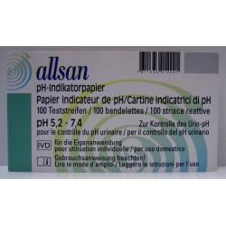 ALLSAN Indikatorpapier pH 5.2-7.4 100 Stk