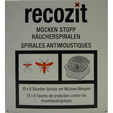 RECOZIT Mücken Stopp Räucherspirale 5 x 2 Stk