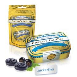 GRETHERS Blackcurrant ohne Zucker ref Btl 100g