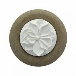 HERBORISTERIA Duftstein Blume auf Teller beige