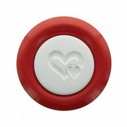 HERBORISTERIA Duftstein Zwei Herzen auf Teller rot