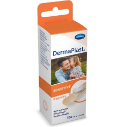 DERMAPLAST SENSITIVE Express Strips 19x72mm 15 Stk