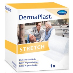 DERMAPLAST STRETCH Gazebinde weiss 8cmx10m