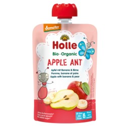 HOLLE Apple Ant Pouchy Apfel Banane Birne 100 g