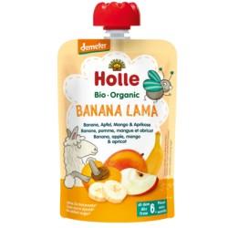 HOLLE Pouchy Banane Apfel Mango Apriko 90 g