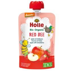 HOLLE Pouchy Apfel mit Erdbeere 90 g