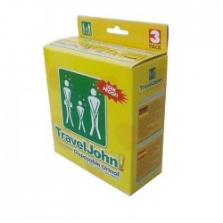 TRAVELJOHN Einweg Urinal unisex 3 Stk