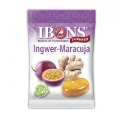 IBONS Ingwer Bonbon Maracuja ohne Zucker Btl 75 g