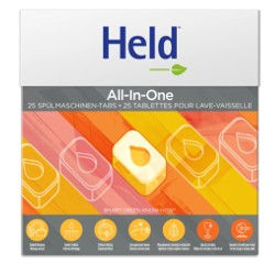HELD BY ECOVER Geschirrspül Tabs All One Zit 600 g