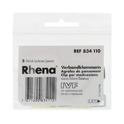 RHENA Verbandklammern weiss 5 Stk
