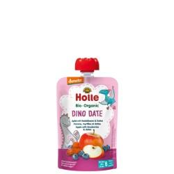 HOLLE Dino Date Pouchy Apfel Heidelbe Dattel 100 g