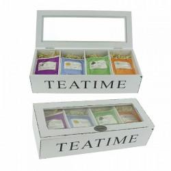HERBORISTERIA Holzbox Living Teatime m 4x10 Btl