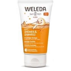 WELEDA KIDS 2in1 Shower&Shampoo Frucht Oran 150 ml