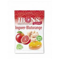 IBONS Ingwer Bonbon Blutorange ohne Zucker 75 g